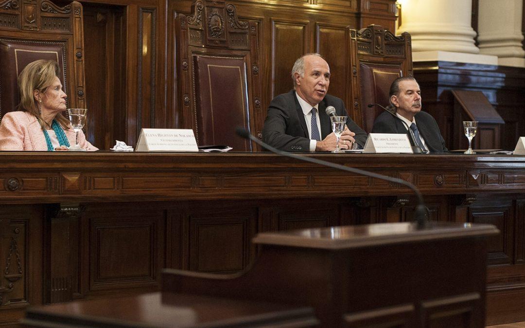 """Lorenzetti: """"El pueblo de la Nación, a quienes nos debemos, espera de la Corte Suprema de Justicia decisiones mesuradas"""""""