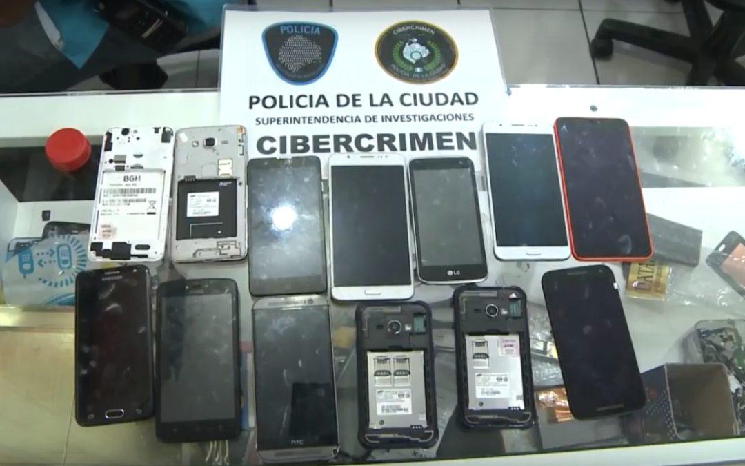Noventa detenidos por robo de celulares