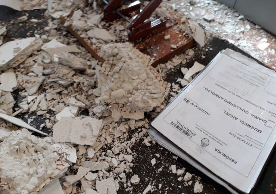 Derrumbe en el juzgado Civil 89: no hubo heridos