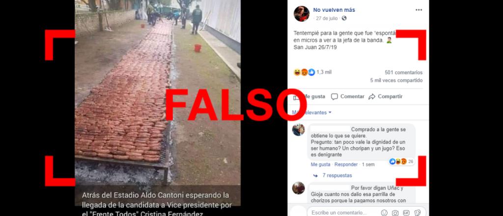 Reverso: No, esta foto no es del acto de campaña de CFK en San Juan en julio pasado