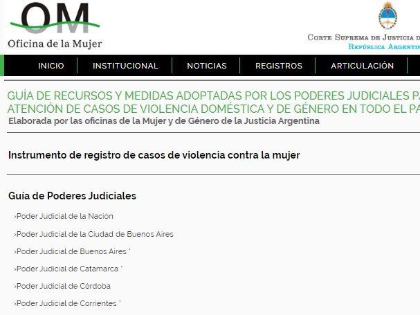 Publican una guía de recursos de los poderes judiciales del país para intervenir en casos de violencia de género o doméstica