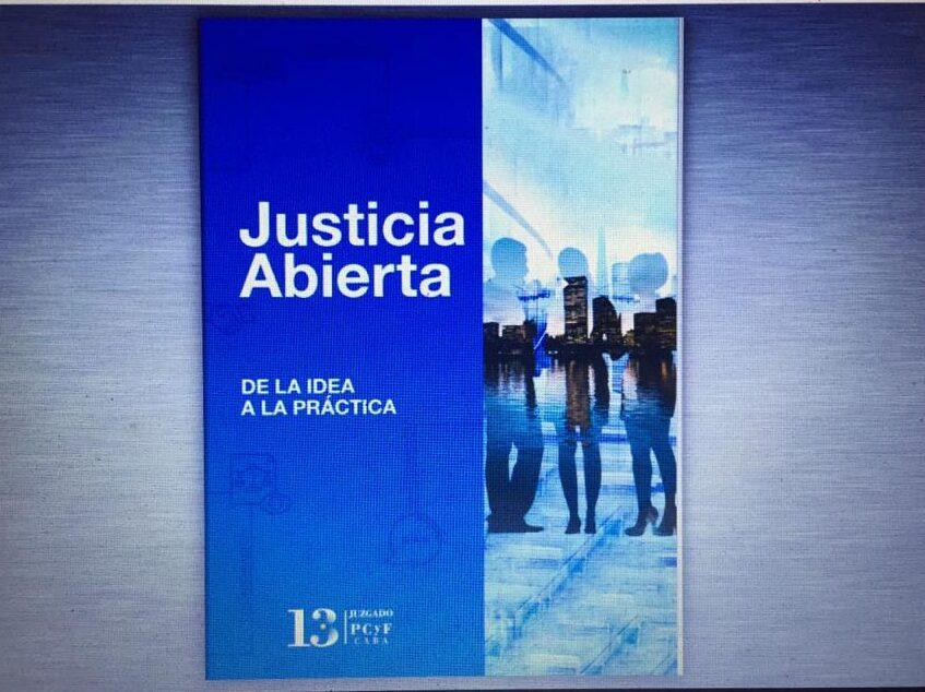 """Presentaron el libro """"Justicia Abierta: de la idea a la práctica"""""""
