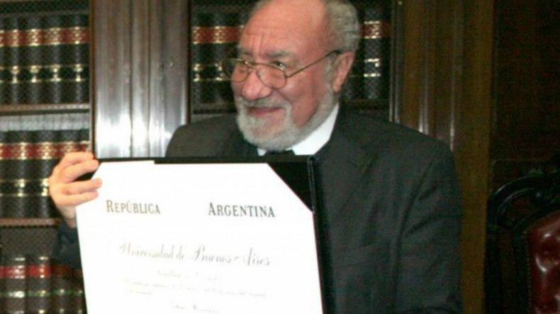 Dolor en la Justicia: murió el jurista Héctor Negri
