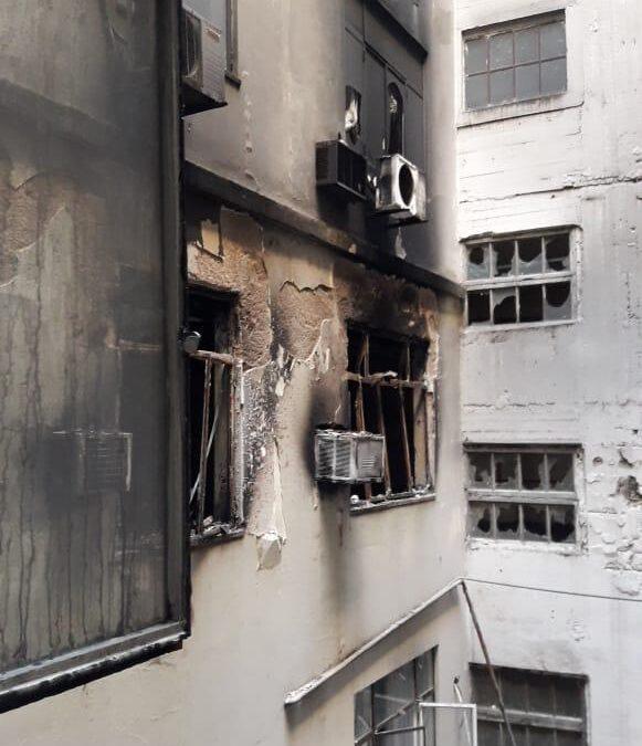 Emergencia judicial: se incendió un tribunal oral y se investiga una falla eléctrica