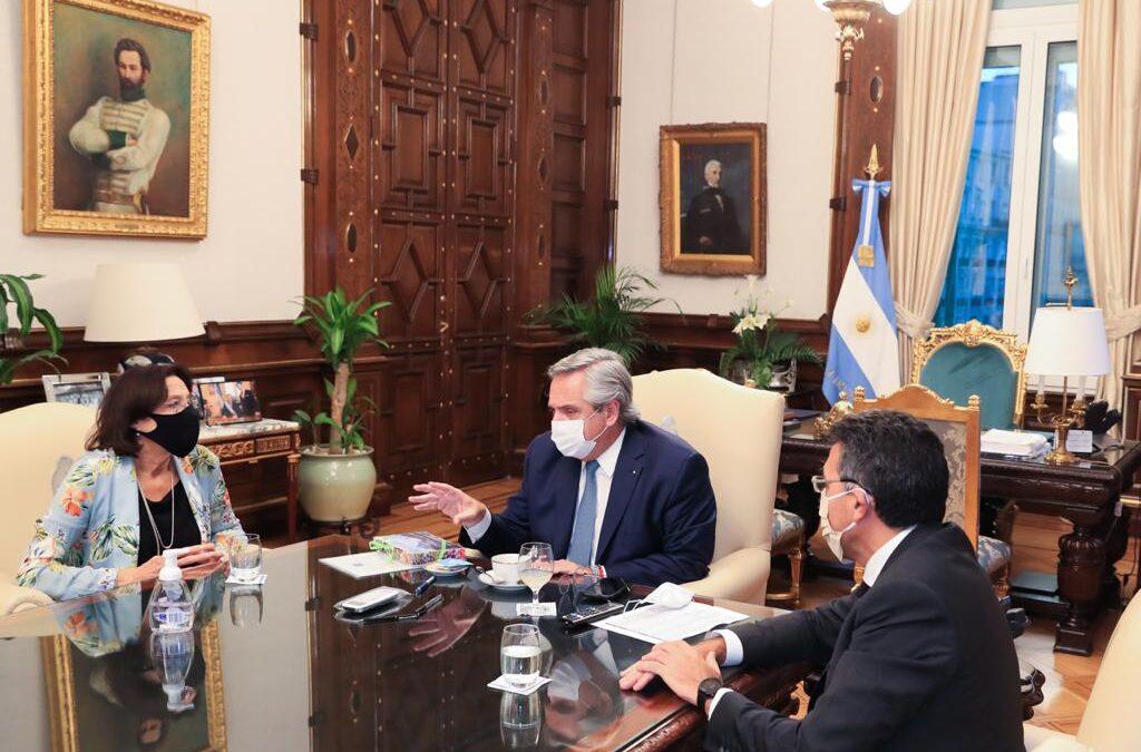Los presidentes de FAM y JuFejus acordaron con Alberto fortalecer la lucha contra la violencia de género