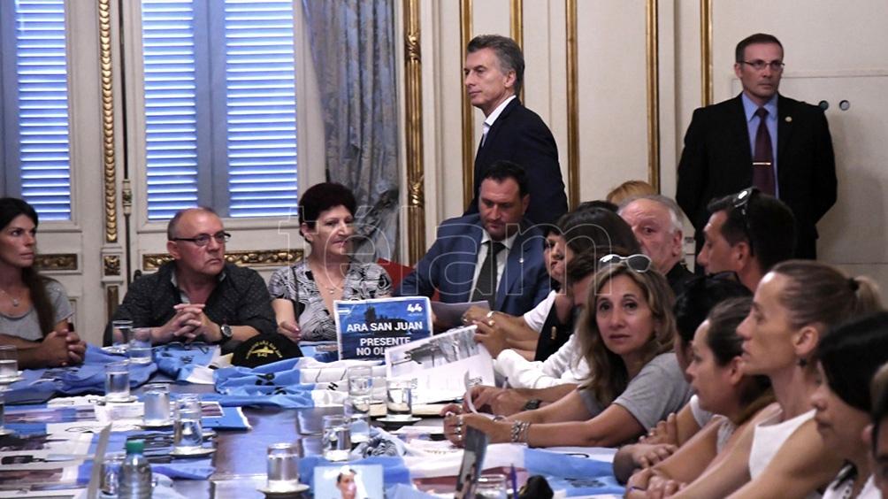 """Los familiares de las víctimas del ARA San Juan """"indignados"""" con Macri por no presentarse a la indagatoria"""